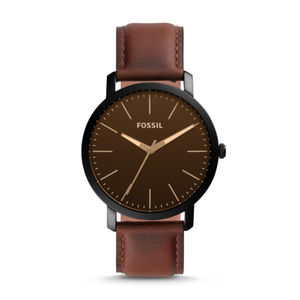 Fossil BQ2460 Luther Three- Hand Leather Watch
